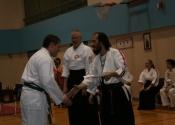Daniel receiving his bronze medal - Toronto Koshiki Championships