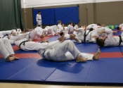 Warm ups for our grappling class - Nov. 2011