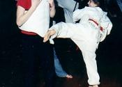 Nice round house kick - Childrens Karate class, Baie d'Urfé