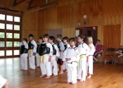 Children's Karate class on a Saturday morning - Baie d'Urfé
