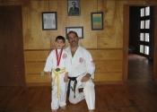 Sensei Manoli with his student, Andreas - Gold medalist