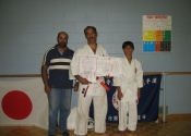 Sensei Manoli with the DaCosta family after the belt promotion