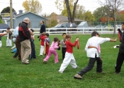 Children's Karate class on a Saturday morning - Baie d'Urfé