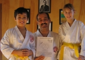 Yellow belt promotion: Cloe & Dominic Dec. 2007