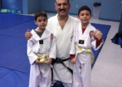 Egan and Kian with Sensi Manoli belt promotion March 2014