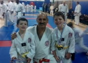 Sensei, Charlie and Henry at the Gohaku Shiai Dec. 3 2016