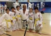 Promoted to yellow belt - June 2016