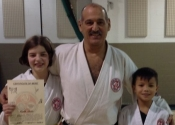 Flora and Joshua, congratulations on your yellow belt promotion. Dec. 2017
