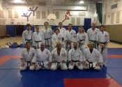 Aron Polmateer from Ontario, visited our Dojo yesterday and trained with us.