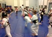 Thursday children's Karate & Jiu-Jitsu class at the Beaconsfield Recreation Centre. October, 2018.