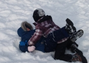 Grappling in the snow. Karate and JiuJitsu class outside today. We were blessed with beautiful weather. What a blast. Beaconsfield Recreation Centre. Montreal, Canada. www.manoli.ca  November 2018