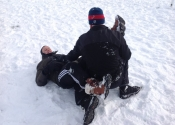 Not easy grappling in the snow with all that gear on. We were blessed with the beautiful Canadian weather. Beaconsfield Recreation Centre, Montreal, Qc. November 2018.