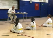 Pictures from orange belt test June 15. Beaconsfield Rec Center
