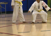 Pictures from orange belt test June 15. Beaconsfield Rec Center