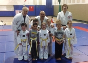 White-yellow belt promotions at our club March 2016