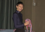 Ayden setting up the medals - Dec. 2011