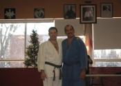 George & Simon before taking their exam - Club de Judo Anjou