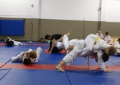 Our class in full action - submission grappling. Nov. 2011