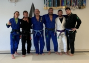 Lunch time BJJ class - West Palm Beach Martial Arts club. A true joy rolling with these wonderful people. Jan. 2020, Florida