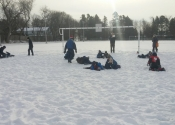Grappling outdoors - Winter class in Beaconsfield November 2018