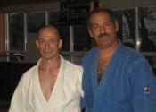 George Manoli with his Judo instructor Sensei Pierre Chagnon