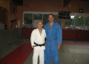 George Manoli with his Judo instructor Sensei Rejean Lavoie