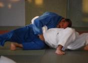 Sensei Manoli grappling at Club de Judo Anjou