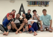 May 28, 2019. Palm Beach Gardens BJJ, Florida. Tuesday's, no Gi night. Fun, fun, fun. What a wonderful group of warriors. Professor Almeida is a jewel. He is patient, guides you and encourages every student. During the rolling, he uses what he taught you on you in order to show you that it works. An honour and pleasure to come train with these guys and girls. Back at it tomorrow before heading to Montreal.