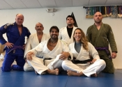 Lunch time BJJ class. A big thank you to Professor Almeida for a wonderful Jiu-Jitsu vacation. Training two times a day at his club. An unforgettable experience. Wonderful, helpful people who have a great passion for the art. Ossss. January, 2018. Florida
