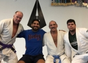 Last BJJ class before heading home to a -25 degrees. A big thank you to Professor Almeida for a wonderful Jiu-Jitsu vacation. Training two times a day at his club. An unforgettable experience. Wonderful, helpful people who have a great passion for the art. Ossss. January, 2018. Florida.