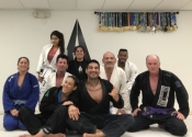 Palm Beach Gardens BJJ - session one done. Worked on ankle lock from Delaheva. Wicked and sneaky. Lots of fun. A great school to come train. Friendly students and instructors. Dec. 2018.