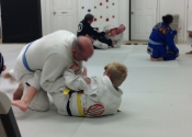 Fighting a young warrior. Dec. 2018. Palm beach Florida. Last class before heading home to Montreal.