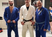 Received my blue belt third stripe today in BJJ - January 13, 2020