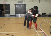 Robert attacking student from behind - Marie Clarac