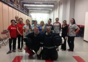 12 participants attended a three hour hands-on assault prevention workshop at the McGill Currie Memorial gymnasium in January 2015. With Instructor George Manoli and Assistant David Manoli