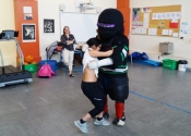 'Lunch & Learn' women's self defence workshop at École Marie-Anne. May, 2017