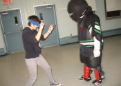 George & Chloe blindfolded WSD Beaconsfield Rec Centre Apr 29 2014
