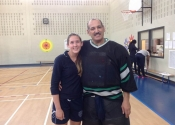 George and a student - Marie clarac April 2015