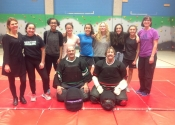 Self defence workshop given at Heritage high school in St. Hubert, jan. 2017