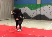 Self Defense course at Heritage High School in St. Hubert in January 2017