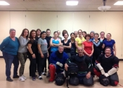 City of Dorval, 'hands-on' simulation oriented personal safety workshop for women and teens. A great bunch of ladies. Empowerment through attack simulations - a great way to learn about the 'power within each one of us'. Oct. 2017