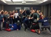 Teen hands-on Self defence workshop. Ringette association, west island, November 2017