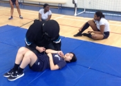 Marie Clarac High School for girls. 6 weeks, hands-on, no holds barred, women/teens Self-defence course completed. May, 2018