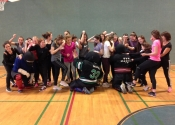 Shawinigan, Quebec. May 29, 2018. École Secondaire Des Chutes. Women & Teens 'Hands-on' self-defence workshop. Great energy and empowerment
