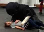 Knife attack, then brought to the ground. Villa Maria high school. Hands-on Self defence course for teens (boys and girls). September - November 2018.