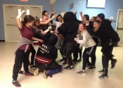 Collège Charlemagne (Montreal, West island), women's 'hands-on' self defence course given over 6 weeks as an after school activity. These girls were psyched and motivated to 'Do whatever it takes' to deal with the dangerous simulations they were confronted with. Hats off to all of them. They were an inspiration. May 1, 2019.