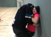 Shawinigan, Qc. Women's 'hands-on' self-defence workshop. Forcing himself upon her - confined spaces. Nov. 29, 2019