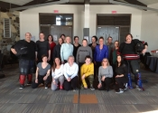 Canada post, women's 'hands-on' self-defence workshop. March 2020.  Estérel, Quebec.