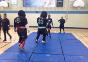 Marie Clarac, 2 vs 1, May 2017, hands-on women's self-defence course