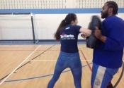 Marie Clarac, April 2017 - self defence course